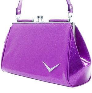 Lux de Ville getaway bag in Purple sparkle